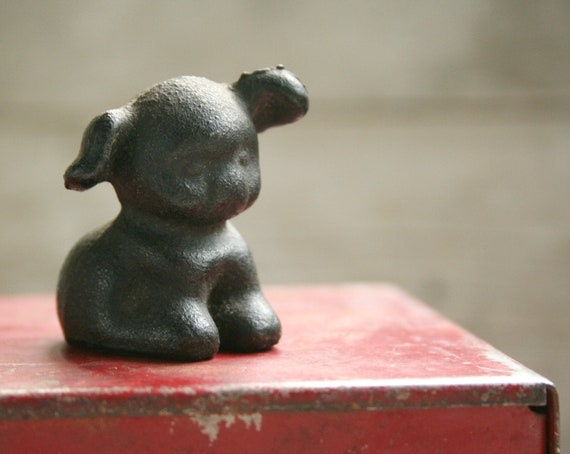 Antique Cast Iron HUBLEY Fido Pup Dog Paperweight 1920s