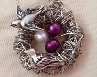 Swallow Birds Nest/Family Pendant
