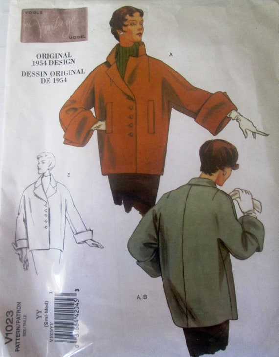 Vogue 1023 Gorgeous Coat Sewing Pattern 1950s