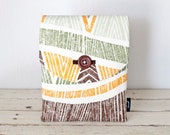 "iPad Air 2 Case, iPad Sleeve, iPad Cover - ""Cabana"" - Padded with Pocket & Button - Tiki, Tropical, Orange, Green, Brown- iPad Air Case"