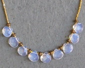 Opalite & Gold Charlotte Necklace / Briolette