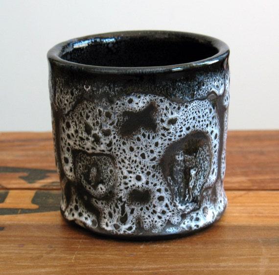 Skull Tumbler, Weeping Double Skulls Tea Cup 8 oz