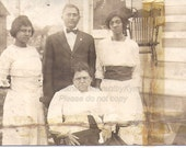 Identified Family, Vintage African American photograph,real photo postcard