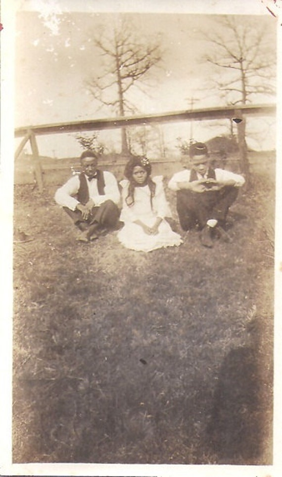 Taking a Break, Vintage African American photograph,photo snapshot