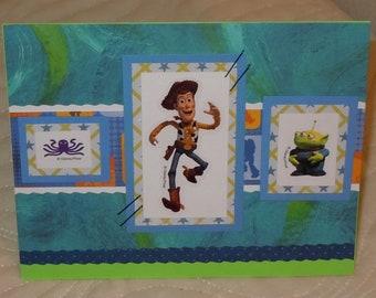 "Handmade ""Toy Story Woody"" Birthday Card"