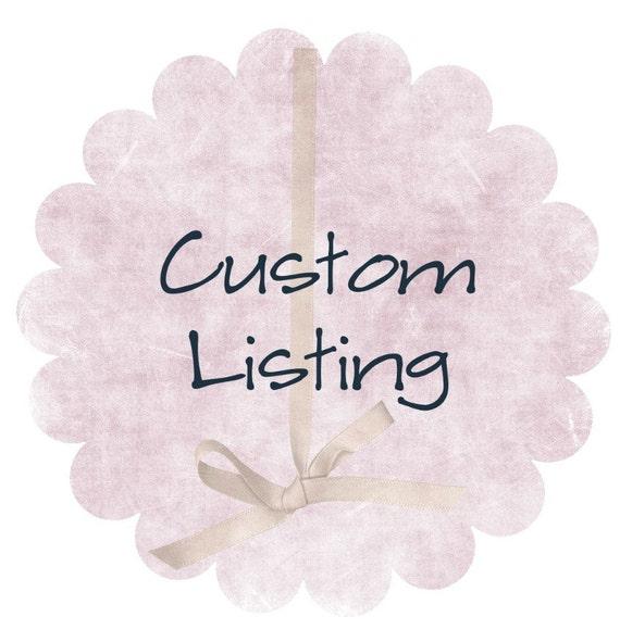 Custom Listing for UTCALGIRL