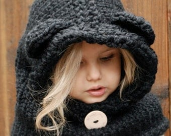 Childrens Hood Knitting Pattern : KNITTING PATTERN Failynn Fox Cowl 12/18 months Toddler