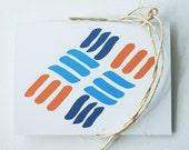 Spring / Summer -- Cards / Stationery -- Abstract no.1 (Knot) -- Original Illustration -- Set of 3 Folded Cards & Envelopes -- Inside Blank