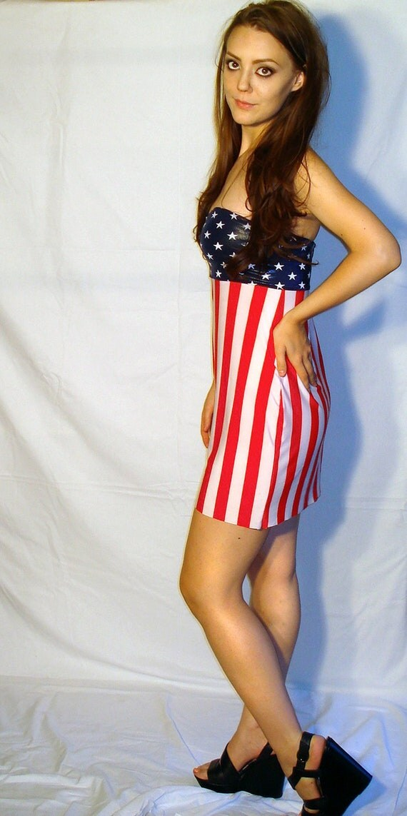 Abe Lincoln Was Right Stretch Stars And Stripes Strapless