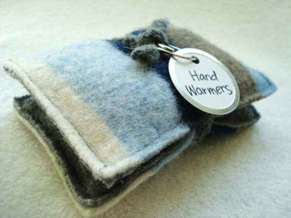 Hand Warmers COOL BLUES Wool Rice Bags Portable Heat