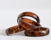 tiger eye size 7 thin multifaceted eco resin ring