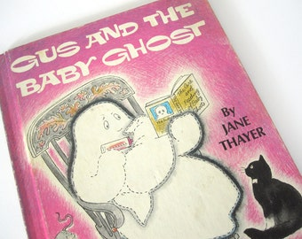 Gus and the Baby Ghost, 1972 children's book by Jane Thayer and Seymour Fleishman, vintage, Gus the Ghost, Halloween