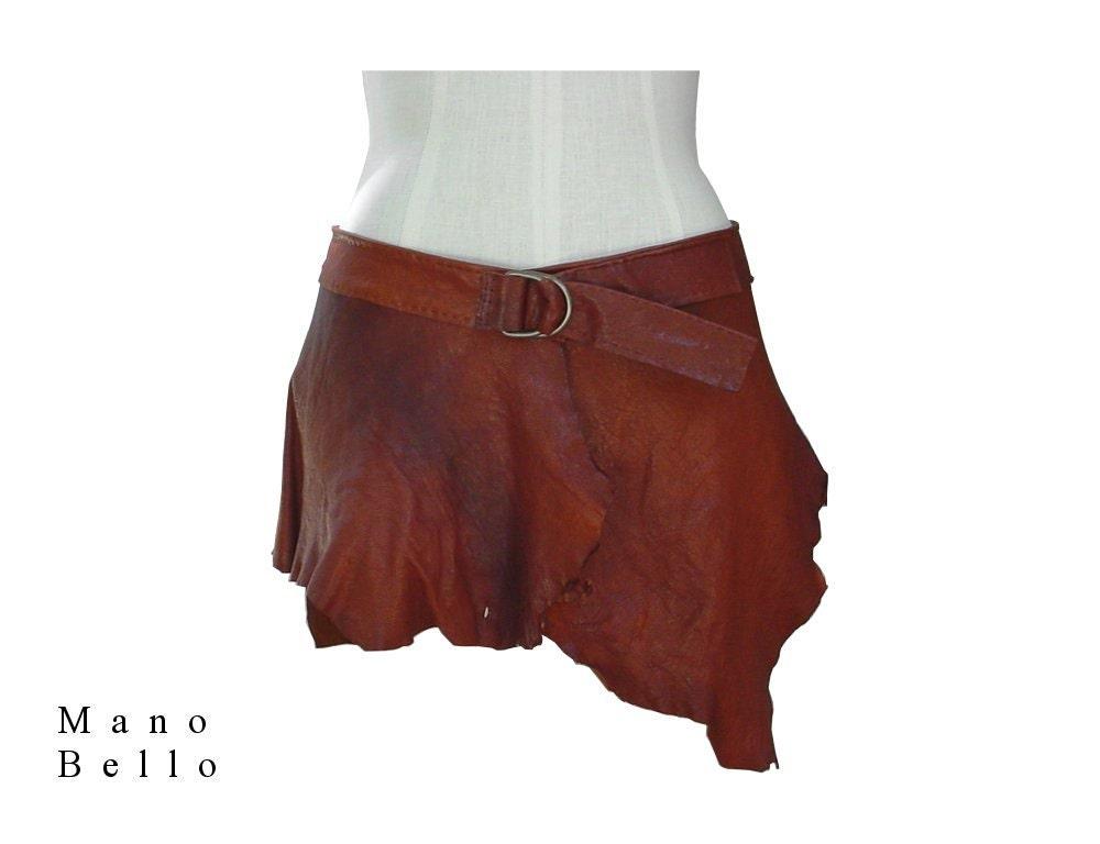 sreunk leather skirt mini skirt leather belt