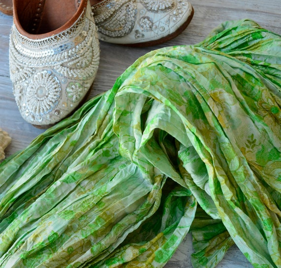 Pareo Silk.. Scarf Neck.shawl. summer   woman accesories Recycled Silk Sari... ve