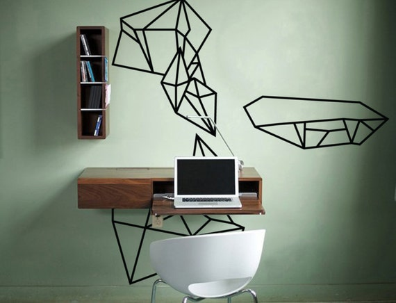 Items similar to Geometric Illustration Wall Decal on Etsy