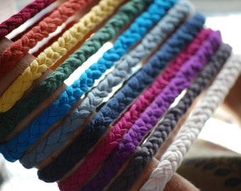 Braided Headband - Set of 6 - Several Rainbow Colors - Eco Friendly - Organic Clothing