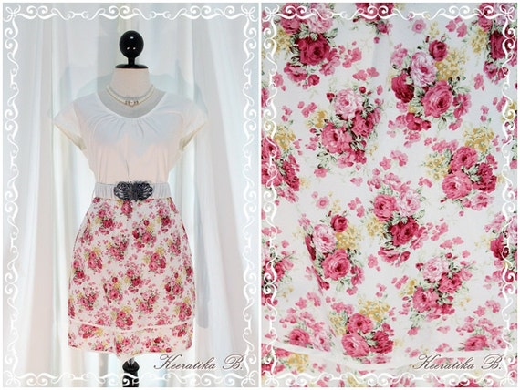 In The Garden - White And Floral Dress Feminine Sundress Cap Sleeve Floral Skirt Two Layers XS-S