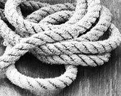Black and White Nautical Rope - 5x7 Fine Art Photograph