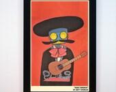 Framed - Robot Mariachi Print