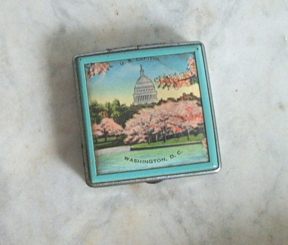 Vintage Washington, DC Souvenir Mirrored Compact