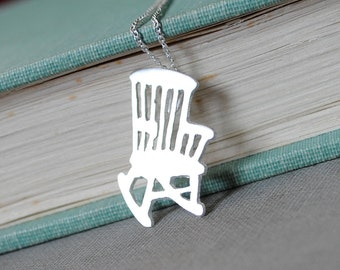 Sterling Rocking Chair Necklace