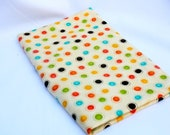 "Destash Fabric  Frolic by ""Moda"", polkadot, orange, green, blue, brown, yellow, 1 yard"