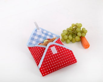 Reusable Sandwich Wrap red dots