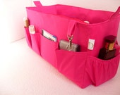 Extra large Purse organizer for Louis Vuitton Neverfull GM- Bag organizer insert in Hot Pink fabric