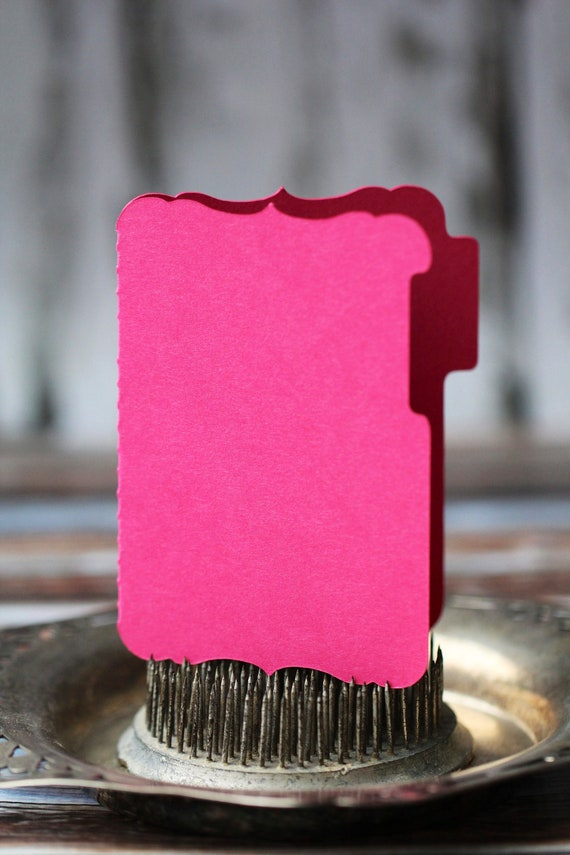 Journaling cards in pink and cream,  set of 30