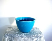 Chippy Fiesta Mixing Bowl Turquoise Size 6 Mid Century Modern 1938 to 1944