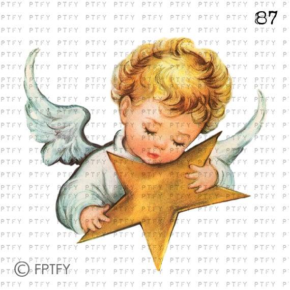 Items Similar To Beautiful Vintage Baby Angel Large