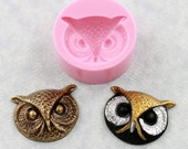 Owl Face Mold Silicone Mould Resin Polymer Clay PMC Embellishment (316)