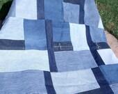 Patchwork Blue Jean Lap Quilt