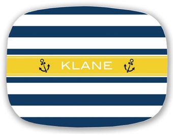 Personalized Platter- Nautical Anchor Platter- Choose Colors