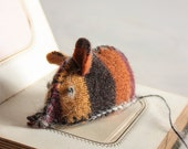 Harvest Stripes Catnip Mouse, from Recycled Thrift Store Sweater
