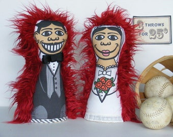 Bride and Groom New-Style Arcade Knock Down Dolls for Wedding Couple