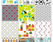 "Fat quarter fabric- Organic Cotton -29""x18"" - Select your design during checkout -Childrens fabrics - May come pre-washed"