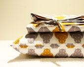 HAPPY HIPPOS - Organic Duvet Cover- Modern Baby Bedding - Pillowcase and Duvet cover