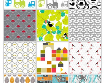 Organic Cotton - Half yard - Select your design during checkout -Childrens fabrics