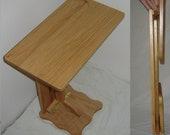 New Solid Oak Wood FOLDING Sofa Server TV / RV / Snack Tray / Laptop Table