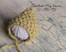 CROCHET HAT PATTERN- Puff stitch pixie hat- pixie hat pattern - Crochet pattern