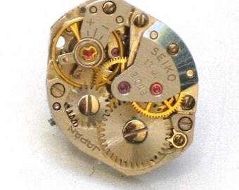Steampunk - Vintage Watch Movement Tie Pin - Cogs Wheel Face - Neo Victorian - By GlazedBlackCherry