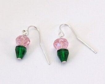 Pink Planted Earrings