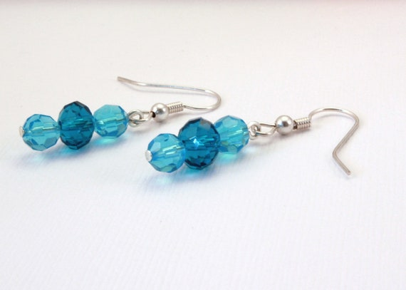 Teal and Blue Earrings