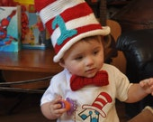 Crochet Cat in the Hat TopHat 6 months-4t