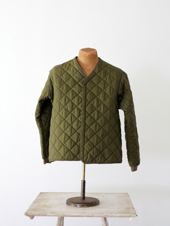 1970s Olive Puff Jacket // Vintage Belgian Coat