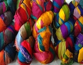 Recycled Sari Silk Ribbon Yarn 50 Yards