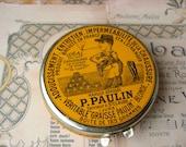 Vintage french tin box P.PAULIN Shoe Polish Leather Care
