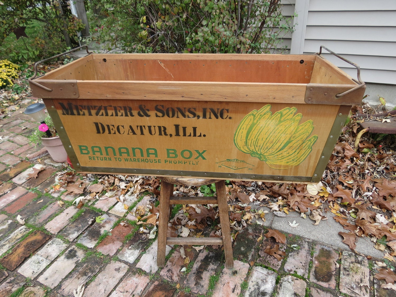 Vintage Wooden Banana Box Crate