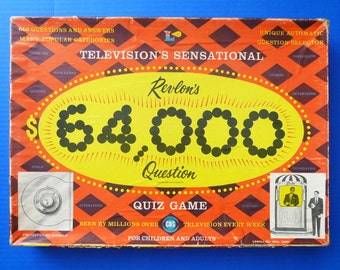 1955 Revlon's 64,000 Dollar TV Quiz Show Board Game
